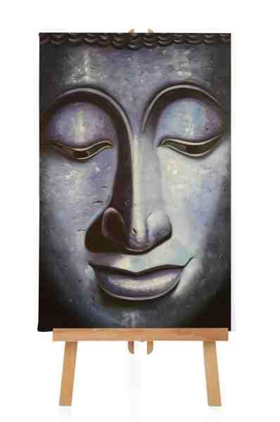 """Ölbild """"Blauer Buddha"""""""