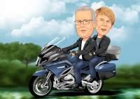 Mit der Motorrad auf Tour