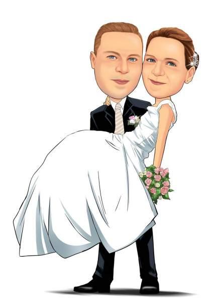 Die Braut auf dem Arm