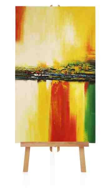 abstraktes Wandbild in Gelb