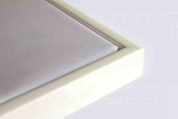 Schattenfugenrahmen weiß breit