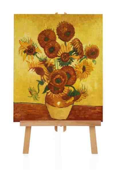 Zwölf Sonnenblumen van Gogh Ölbild