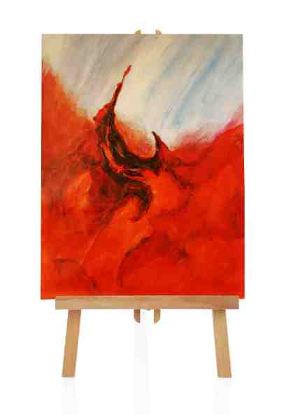 abstraktes Feuer Ölbild