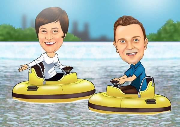 Spaß mit Wasserfahrzeuge