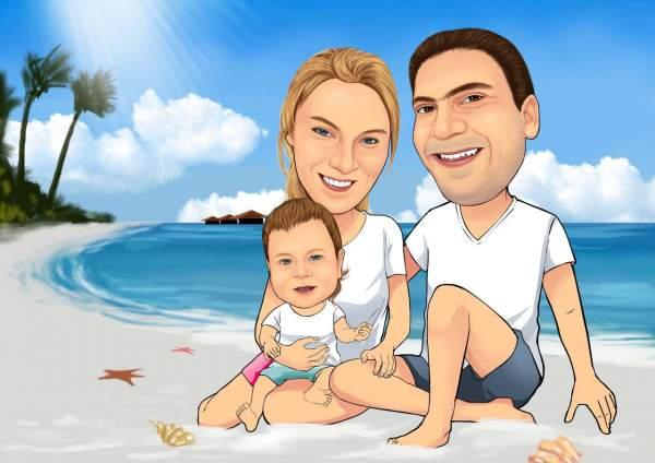 Familien Glück am Strand