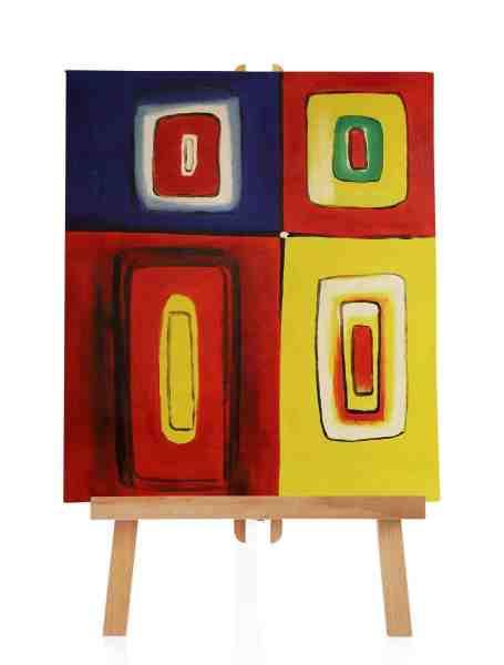 """Ölbild """"Colored Square"""""""