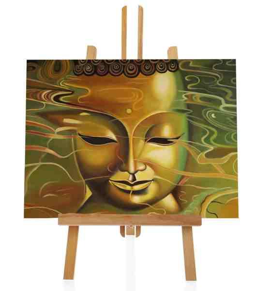 Glänzender Buddha Ölbild