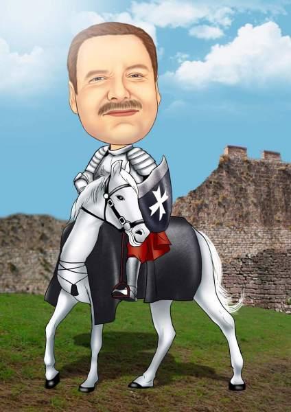 Das weiße Pferd und sein Ritter