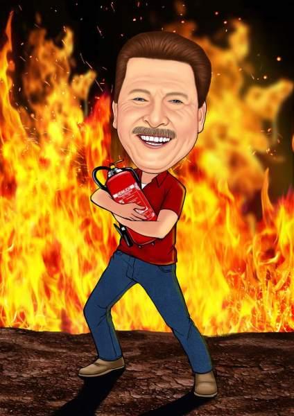Mein Freund der Feuerlöscher