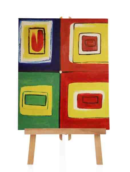 """Ölbild """"Colored Square II"""""""