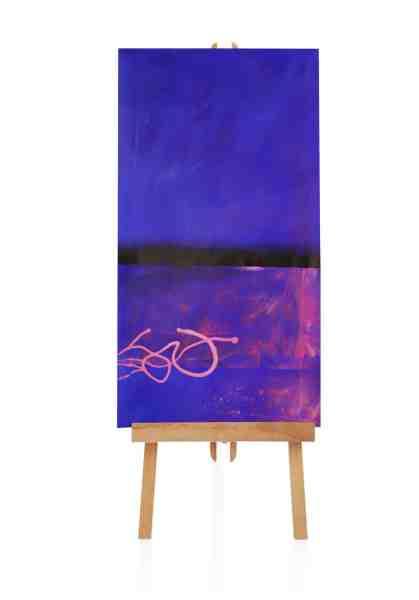 blaues abstraktes Ölbild