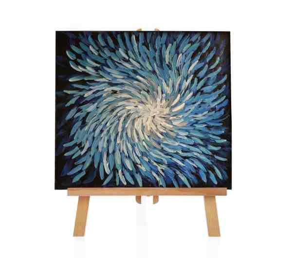 blaues Acrylgemälde