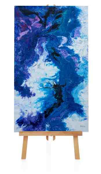 "Acrylbild ""Blue Lagoon"""