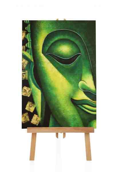 Buddhabild in Grün