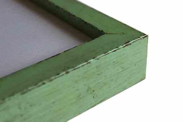 rustikaler Bilderrahmen grün