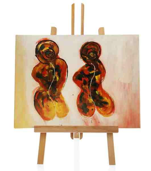 Two Maids abstraktes Ölbild