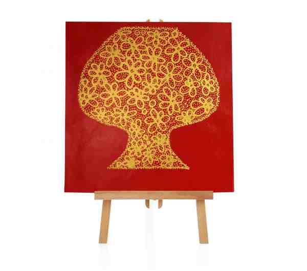 Goldbaum Ölbild