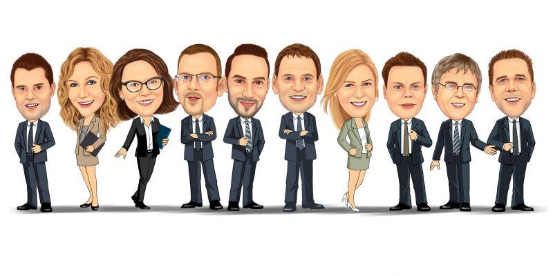 Karikaturen für Firmen