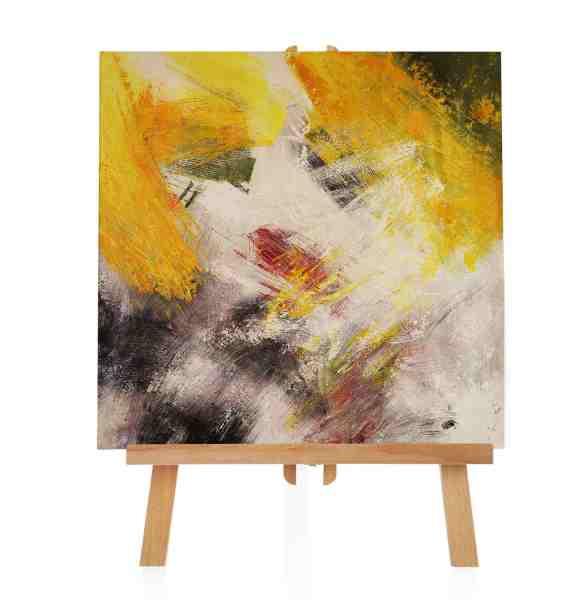 gelbes abstraktes Acrylgemälde