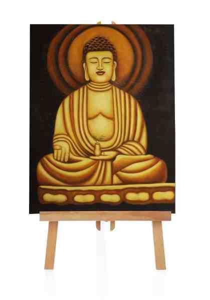 """Ölbild """"Buddha Entspannung"""""""