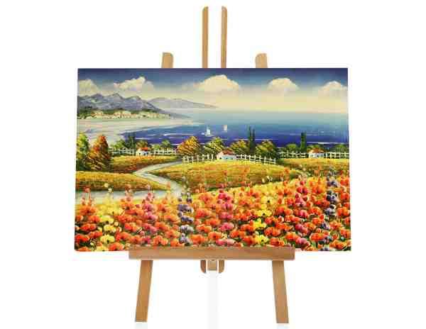 Blumenfeld Ölbild