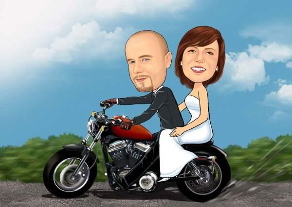 Verliebtes Paar auf dem Moppet