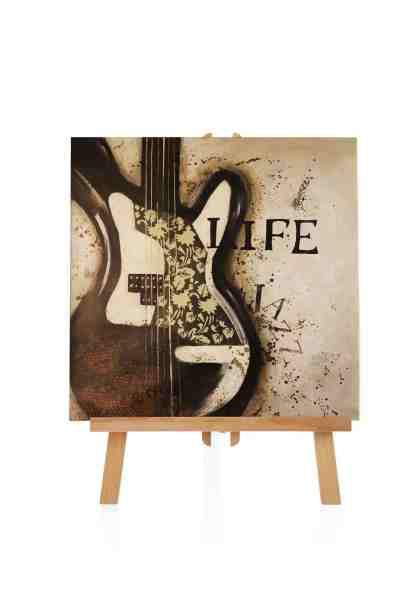 handgemalte Gitarre Ölbild