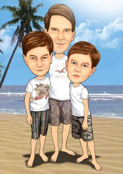 Vater und seine Söhne