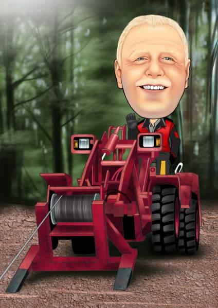 Forstmaschine im Einsatz