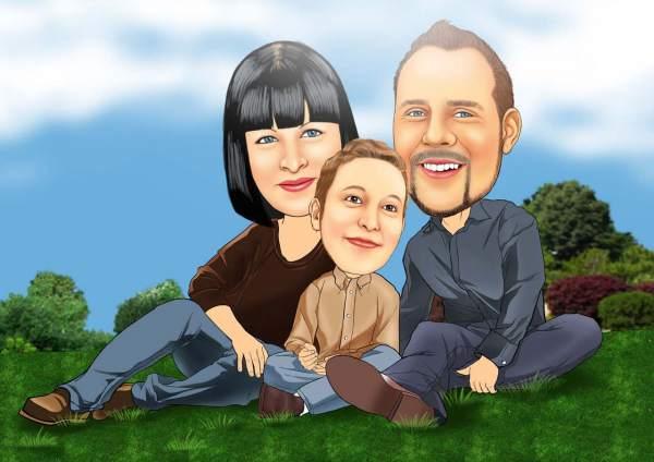 Liebevolle Familie