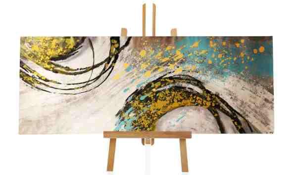 XXL Ölbild abstrakte Wellen