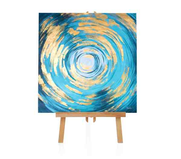 "Acryl Gemälde ""Gold Strudel"""