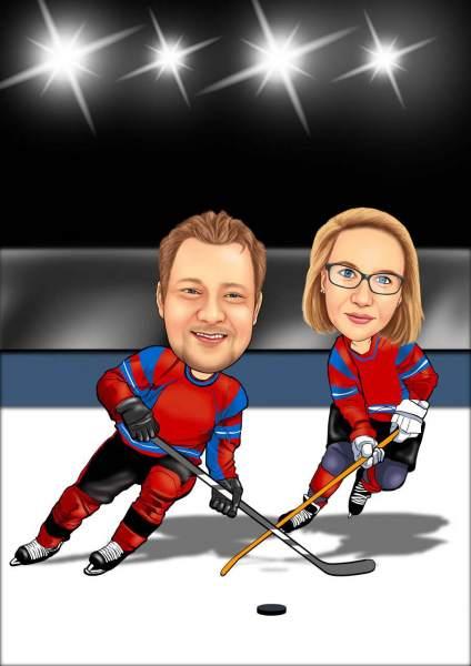 Eishockey Duell