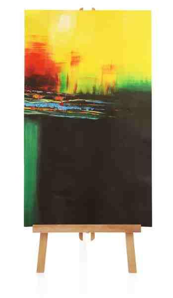 gelbes abstraktes Bild
