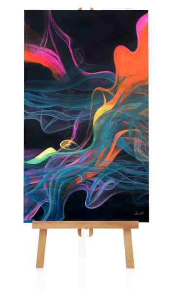 "Acrylbild ""Colored Smoke"""