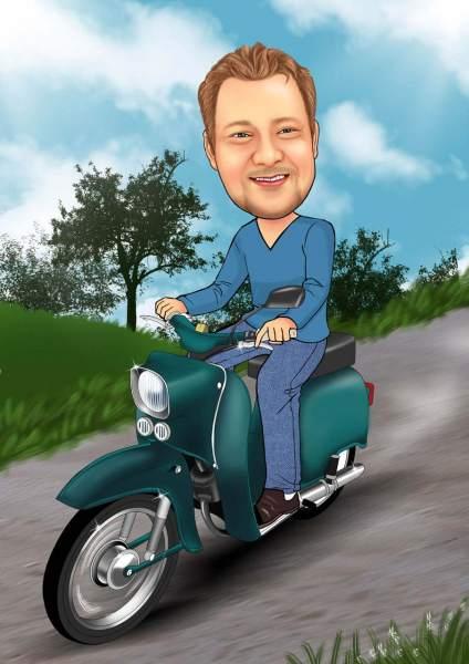Auf dem Moped