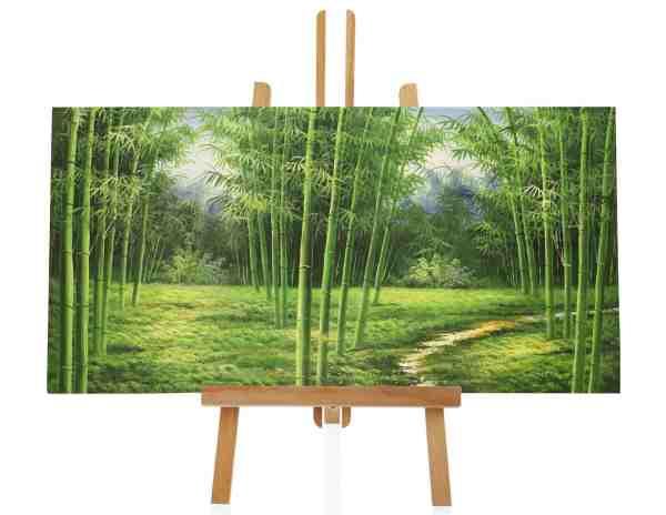 Bambus Ölbild