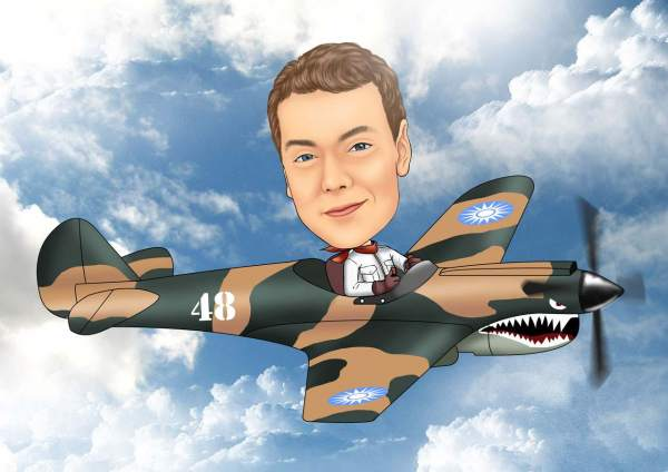 Camoufliertes Sportflugzeug