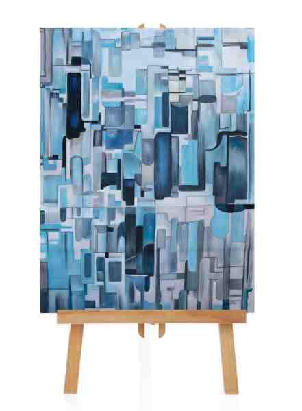 """Acrylbild """"Blue Box"""""""