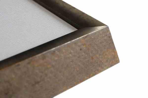 moderner Bilderrahmen Echtholz silber