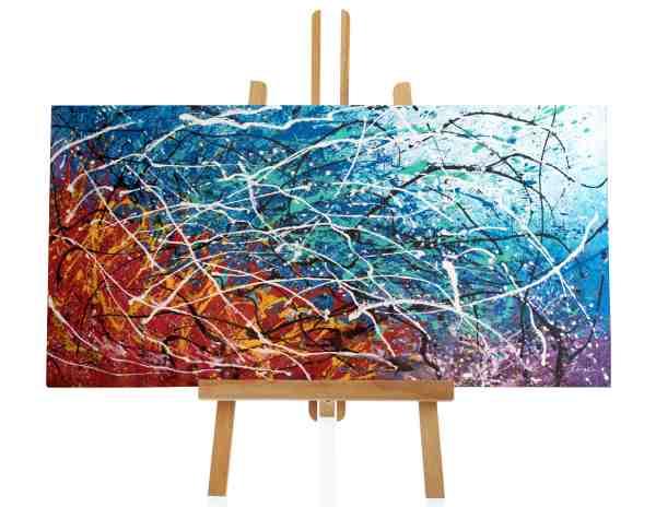 """Acrylbild """"Colorful Splash II"""""""