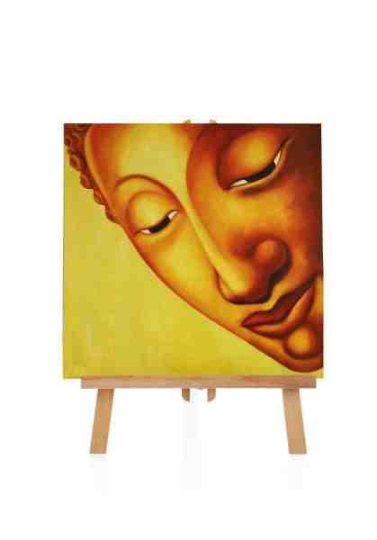 """Ölbild """"Thailändischer Buddha"""" 90x90 cm"""