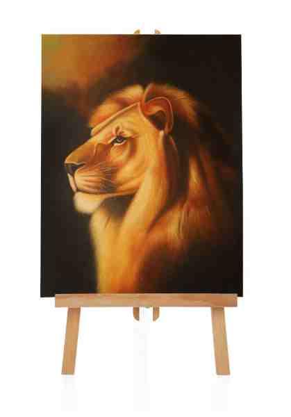 Ölgemälde vom Löwen