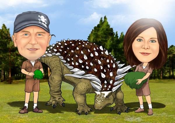 Dinosaurier Fütterung
