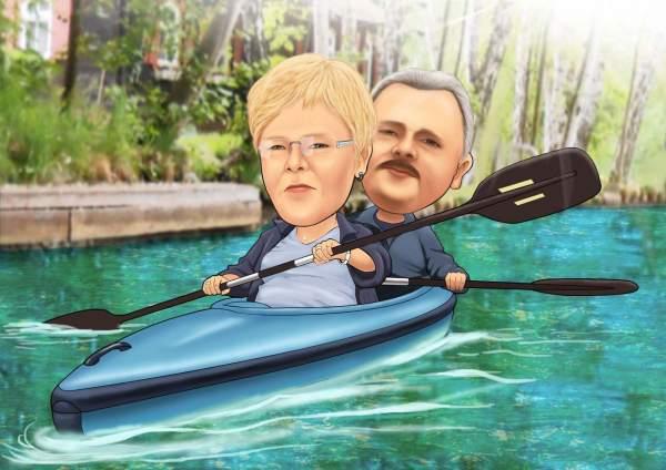 In einem Kanu