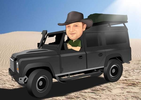 Wüsten Fahrer