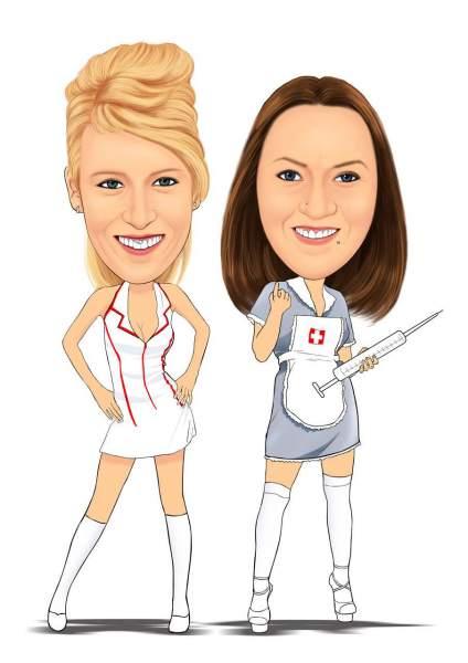 Hübsche Krankenschwestern