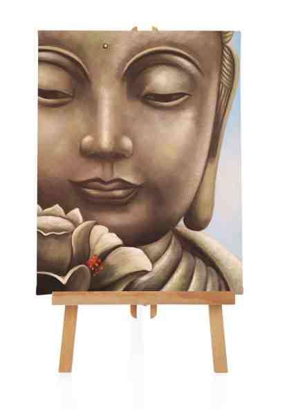 Buddha Bild handgemalt