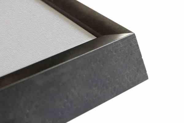 moderner Bilderrahmen Echtholz grau