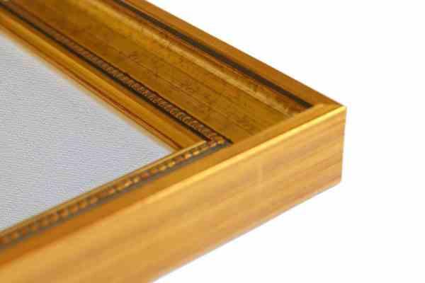 klassischer Bilderrahmen Echtholz Farbe gold